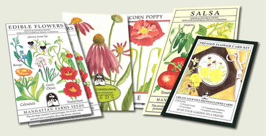 Each seed package is a work of art created and designed by Canadian Artist Joan Taylor.